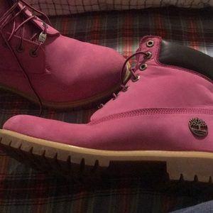 Timberland men's size 9.5 pink Susan G. Komen